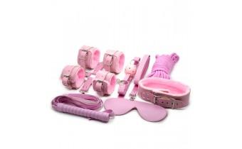 Beginner Bedroom Bondage Fetish Naughty Kit- Pink