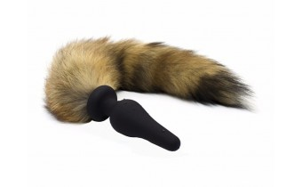 Wild Faux Fox Butt Plug Tail with Rubber Tip