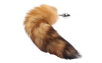 Faux Fur Fox Butt Plug Large