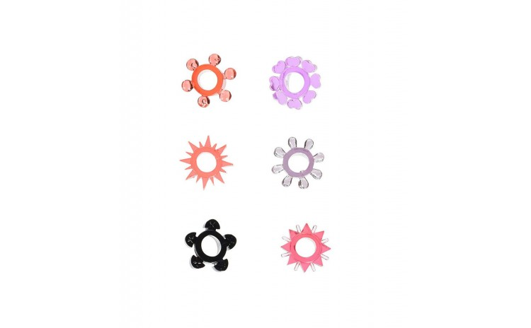 Jelly Cock Ring set of 6