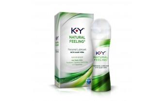 K-Y Natural Feeling Personal Lubricant Gel with Aloe Vera