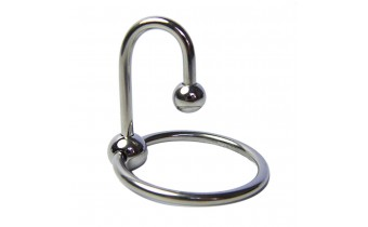 Stainless Steel Penis Ring with Urethra Plug 1.85