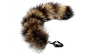 Faux Fur Wild Racoon Large Butt Plug