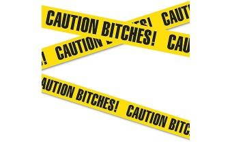 Caution Bitches 20' Tape Banner Bachelorette Bachelor Party Gag