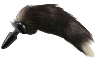 Faux Fur Silver Fox Butt Plug Tail