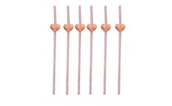 Reusable Fun Breast Straws for Bachelor Hen Party 6 pcs